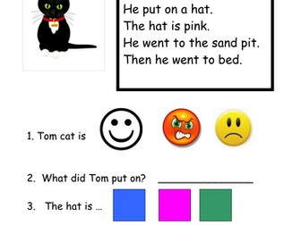 Year 1 reading comprehension
