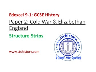 Edexcel 9-1 History: Paper 2 STRUCTURE STRIPS generic (Editable)