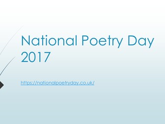 National Poetry Day assembly 2017