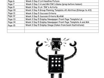 The Iron Man LKS2 Scheme of Work - WEEK 3: NEWSPAPER OPENINGS