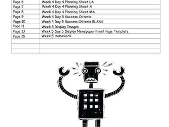 The Iron Man LKS2 Scheme of Work - WEEK 4: NEWSPAPER REPORTS
