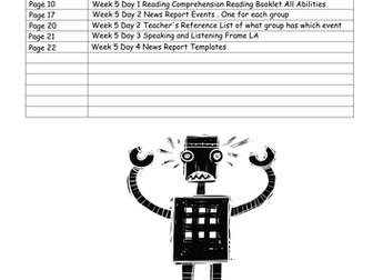 The Iron Man LKS2 Scheme of Work - Week 5: NEWS REPORTS (Speaking & Listening)