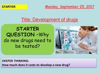 AQA new specification-Developing drugs-B6.4
