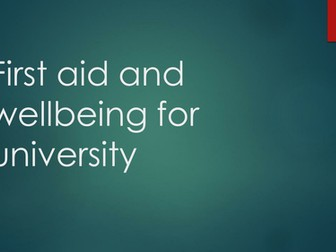 First Aid for university
