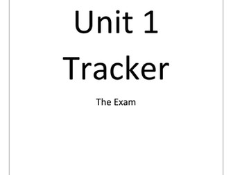 EDUQAS Hospitality and Catering Unit 1 Tracker