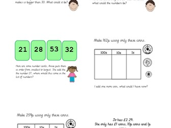 Reasoning and Problem Solving Bundle for Year 2 Mastery / Working at Greater Depth