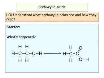 NEW AQA GCSE Chemistry Carboxylic Acids