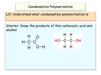 NEW AQA GCSE Chemistry Condensation Polymerisation