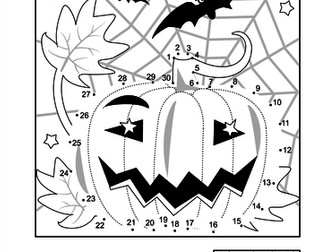 Halloween Connect the Dots and Colouring Activity Pages by