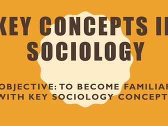 AQA Introduction to AS Sociology- Key Concepts