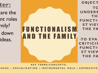 AQA AS Sociology- Families & Households: Functionalism and the family (Murdock)