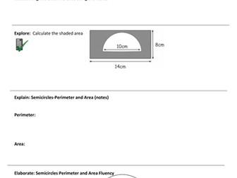 Circles GCSE-revision worksheet