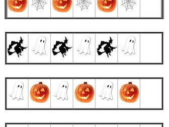 Repeating Pattern- Halloween. TEACCH