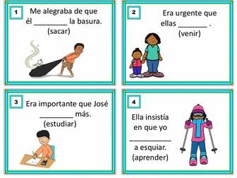 Imperfect Subjunctive Task Cards - Imperfecto de Subjuntivo