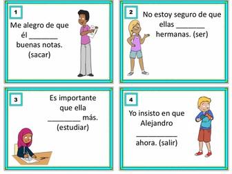 Present Subjunctive Task Cards - Subjuntivo