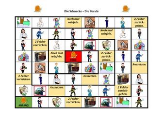 Berufe (Professions in German) Schnecke Snail Game