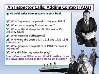 An Inspector Calls and Context