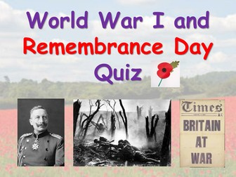 World War I / Remembrance Quiz
