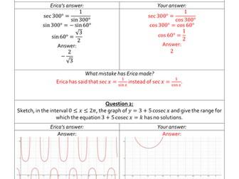 Erica's Errors On Trigonometric Functions