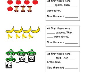 Year 1 Autumn Subtraction - How many left? Created for use with White Rose Maths