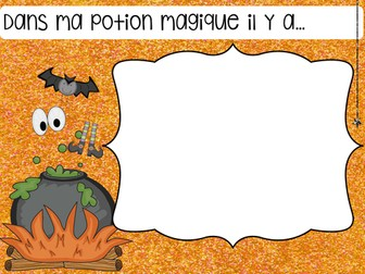 French Halloween Writing Activity and Bingo Cards