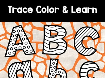 Alphabet Trace Color and Learn- Apply discount code OUTSTANDINGOCT  (Free for first time buyers)