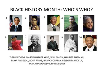Black History Month activity