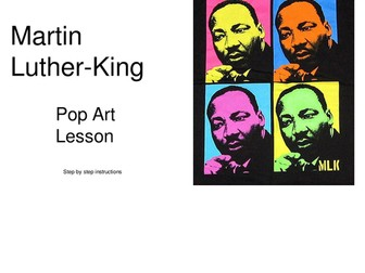 Martin Luther-King Black History Art Lesson Pop Art