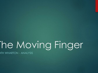 The Moving Finger by Edith Wharton Analysis