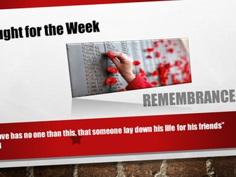 Remembrance - An Assembly
