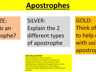 Apostrophes full lesson and accompanying worksheet