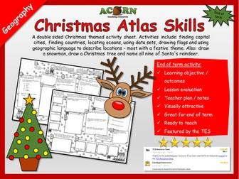 Christmas Atlas Skills - Geography