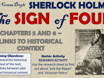 The Sign of Four - Links to Historical Context!
