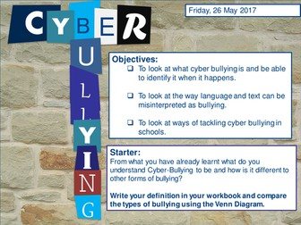 Cyber Bullying -Yr9 PSHE