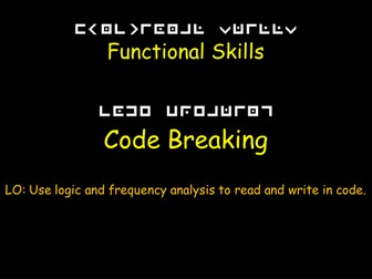 Functional Mathematics: Code Breaking