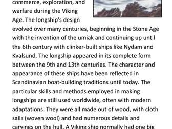 Viking Longships Handout
