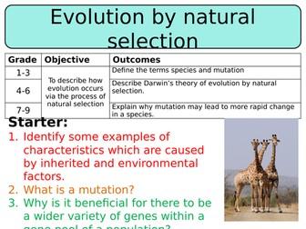NEW AQA GCSE Trilogy (2016) Biology - Evolution by natural selection