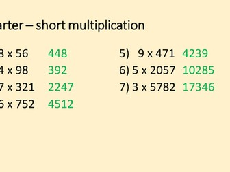 Multiplying Decimals by Integers