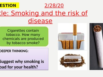 AQA new specification-Smoking and the risk of disease-B7.3