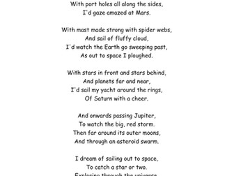 Comprehension on Space Poem