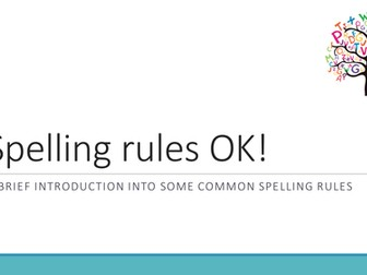 Spelling rules with spelling activity