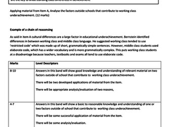 AQA A Level Sociology Education and Class Achievement - Essay Writing and Cultural Capital Lesson 3