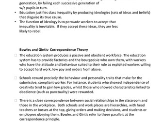AQA A Level Sociology Education and Marxism - Lesson Thirteen