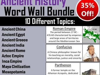 Ancient History Word Wall Bundle