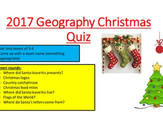 2017 Geography Christmas Quiz