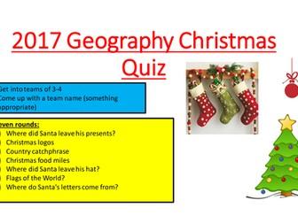 2017 Geography Christmas Quiz