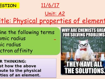 Pearson BTEC New specification-Applied science-Unit 1-Physical properties of elements-1-A2