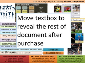 AQA GCSE PE (9-1) Topic on a page - set of 7!- Revision - Exam technique