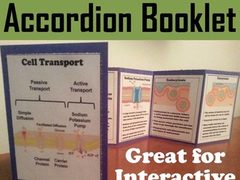 Passive and Active Cell Transport Interactive Notebook