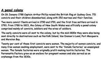 Why were English convicts sent to Australia?